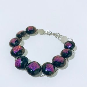 Jewelry - ⭐️5 for 25 ⭐️ArtIridescent Fused Glass bracelet